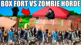 BOX FORT ZOMBIE BASE Vs ZOMBIE HORDE!!  📦😱 The Walking Dead Box Fort!