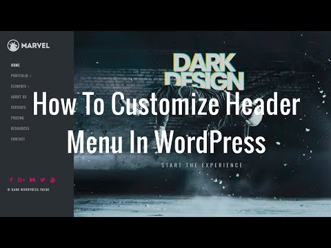 How To Customize Header Menu In WordPress