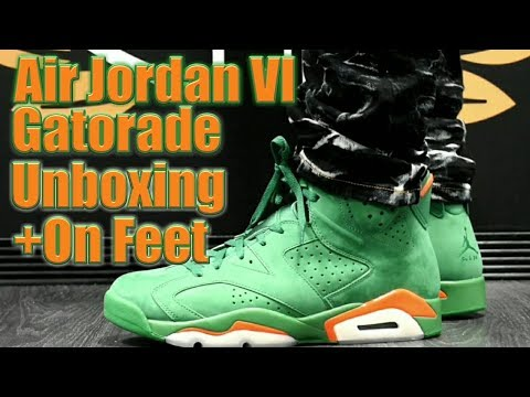 new styles 645a8 86cca AIR JORDAN VI GATORADE UNBOXING AND ON FEET - Vidly.xyz