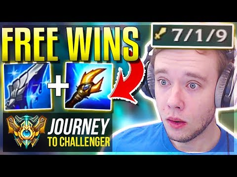LITERALLY ANYONE CAN CARRY WITH THIS BUILD!! - Journey To Challenger | League of Legends