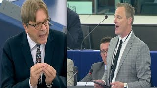 Download Brexit Party MEP Daubney and EU's Verhofstadt CLASH at European Parliament (18th September 2019) Video