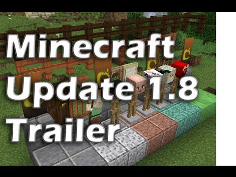 Minecraft New Update 1.8 - All features in under 2 minutes! Trailer and complete update list