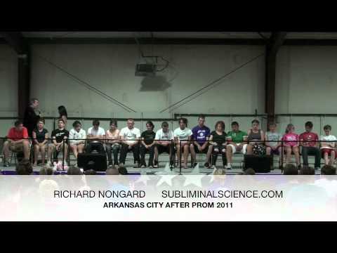 Stage Hypnosis Skits - Richard Nongard Arkansas City After Prom