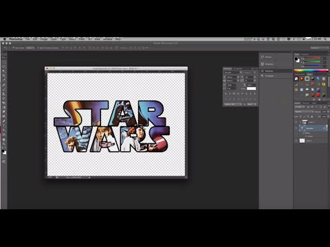 Photoshop CS6: Creating a Clipping Mask
