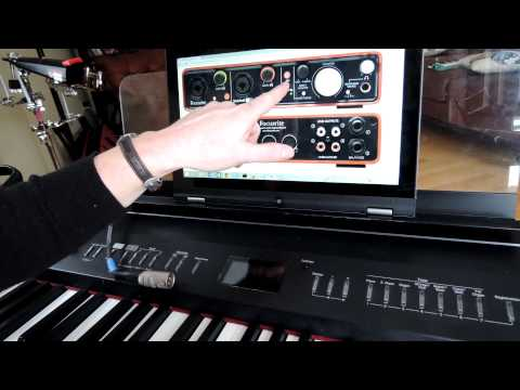 How to Record a Keyboard Using a Home Recording Studio for the Absolute Noob from an Absolute Noob