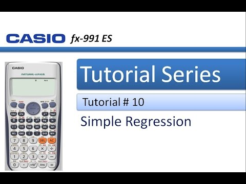 How to solve a Simple Regression Problem in Casio 991 ES Plus Calculator