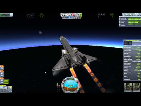 Flying the Spaceplane To Orbit in KSP v1.0.4