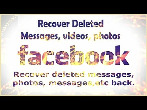 how to recover deleted facebook photos And other Data New 2017
