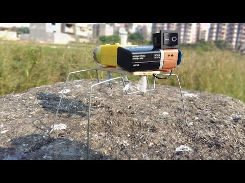 How to Make a Walking Insect Robot ( VERY EASY )