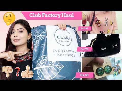 Club Factory Haul & Review Part-1 | India Online Shopping | Rinkal Soni