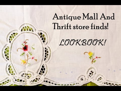 Antique Mall and Thrift Store Haul LOOKBOOK (Victorian nightgowns, records etc.,)