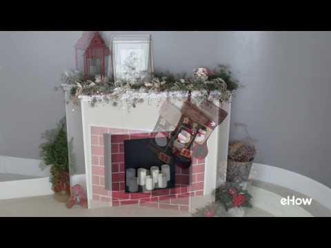 Cardboard Fireplace DIY for Christmas