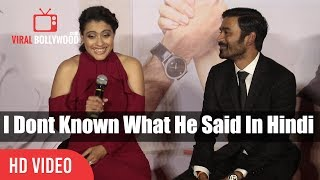 I Dont Known What He Said | Dhanush Funny Reaction On Reporter HIndi Question | VIP 2 Lalkar Trailer