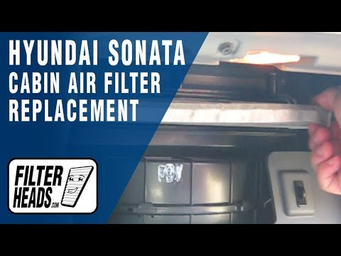 How to Replace Cabin Air Filter Hyundai Sonata