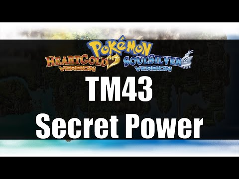 Pokemon Heart Gold & Soul Silver - Where to get TM43 Secret Power
