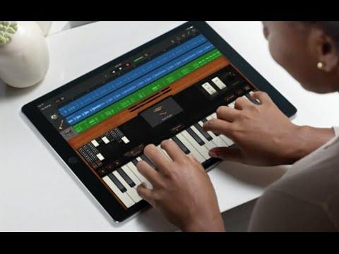 iPad Pro and GarageBand