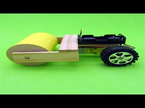 How To Make a Road Roller At Home - Road Construction Machine