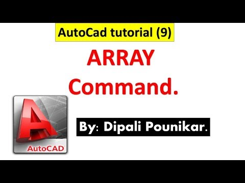 Autocad tutorial (9) on array Command.