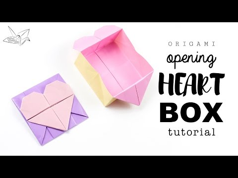 Origami Opening Heart Box / Envelope Tutorial ♥︎ Design: Francis Ow ♥︎ Paper Kawaii