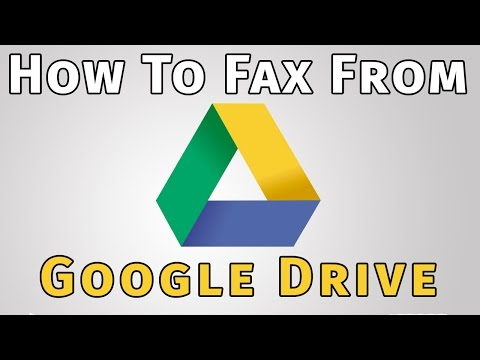 How to Fax From Google Drive