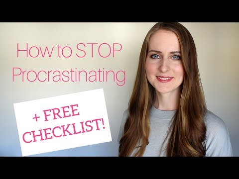 How to Stop Procrastinating & Being Lazy
