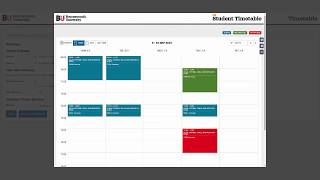 Accessing and using your online timetable