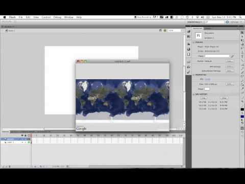 Google Maps with Flash CS5 Tutorial Setting an Initial Location