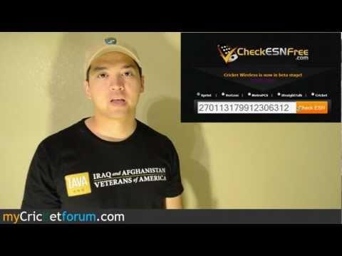 CricketUsers.com - How to Check For Bad ESNs