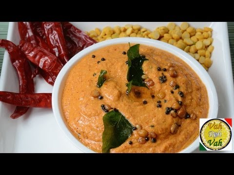 Hot - Red Chilli Hot Coconut Chutney - By VahChef @ VahRehVah.com