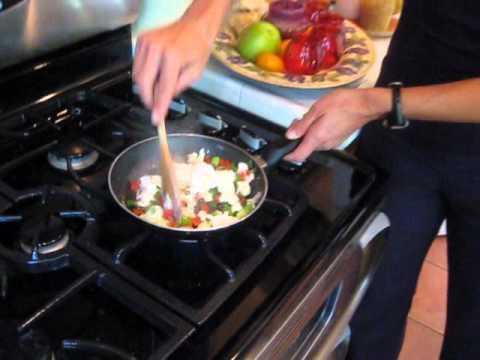 Healthy Cooking Tip #2 Egg White Veggie Scramble