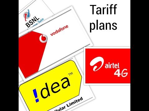 AIRTEL VODAFONE IDEA BSNL new tariff plans