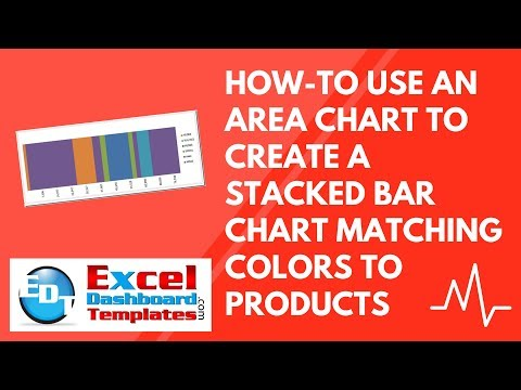 How-to Use an Area Chart to create a Stacked Bar Chart Matching Colors to Products