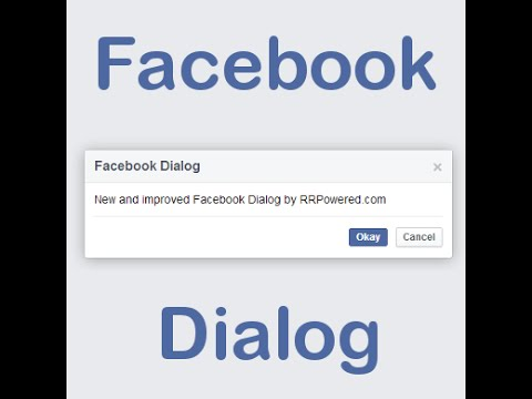 Facebook Dialog using jQuery and CSS