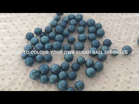 How to colour your own sugar ball sprinkles