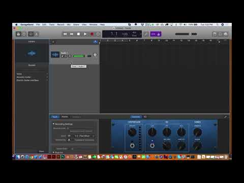 How to Setup Two Mics for a Podcast using GarageBand 10.2 (2018 edition)