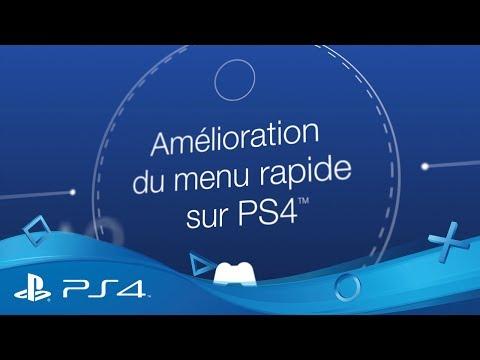 Mise à jour PS4 5.50 - Améliorations du Menu rapide