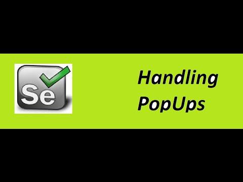 Selenium WebDriver Handling Popup | Window