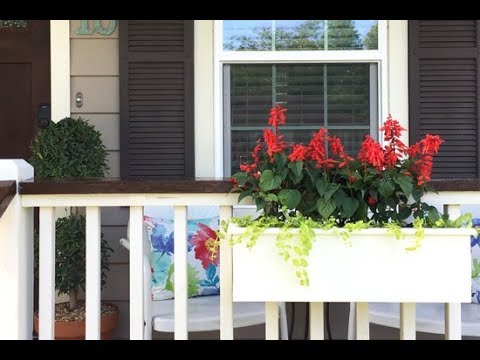 DIY Deck or Porch Rail Planter Box