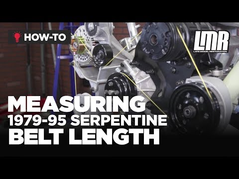 79-95 Mustang How to Measure Serpentine Belt Length (5.0)