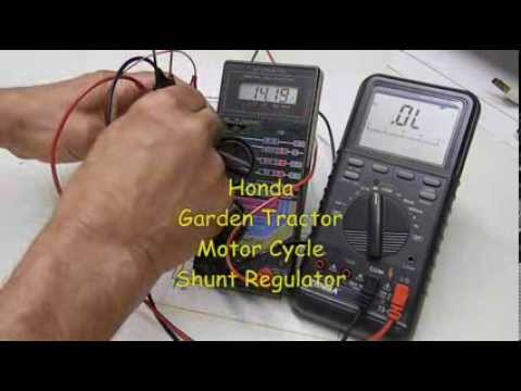 Garden Tractor, Motorcycle Voltage Regulator Testing - Honda SH547-12