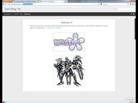 Changing Blogger's Default Homepage