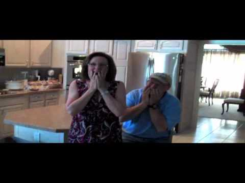 We're Pregnant Reaction (Breaking news of their First Grandchild) - Mom and Dad