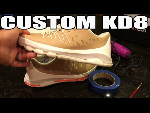 Simple Sneaker Custom! Vachetta Tan Nike KD8 EXT Midsole Paint!