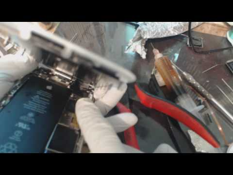 iPhone 6S no backlight track repair of damaged filter jumper part 2