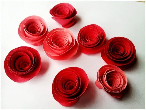 How to make Rolled Paper Roses Quick & Easy Tutorial