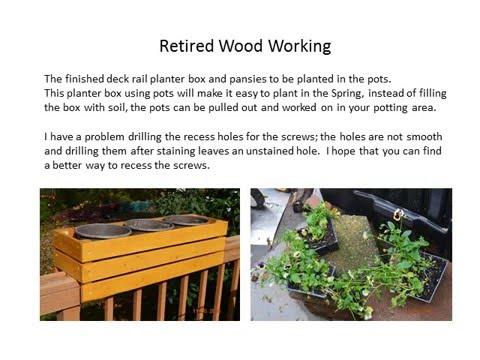 Retired Wood Working Deck Rail Planter Box