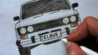 VAZ 2106-nece cekilir  (Ehedov Elnur)Как нарисовать ВАЗ-2106 поэтапно_Как нарисовать Жигули  Production Music courtesy of Epidemic Sound!