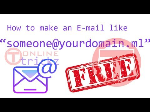 How To Make an Email Like someone@yourdomain.ml for Free
