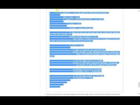 Windows 8 Development - Load File Picker State XAML