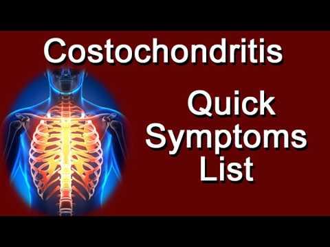 Costochondritis Quick Symptoms List